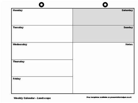 blank weekly calendar template | calendar printable free