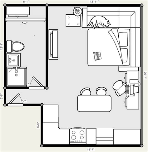 floor plan studio apartment 20 x 20 studio apartment floor plans pinteres
