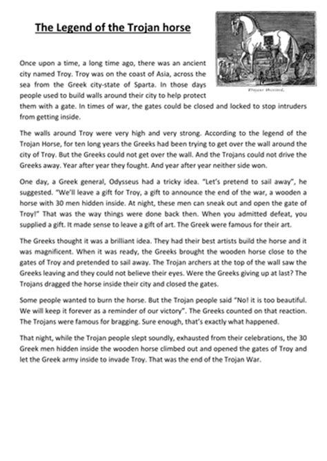 simple biography ks2 the legend of the trojan horse by mickylangford teaching