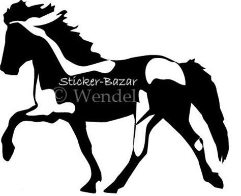 Aufkleber Pferd Silhouette by Islandpferde Aufkleber Sticker Bazar Shop