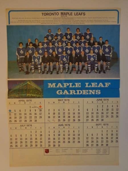 toronto maple leafs vintage hockey calendar  pages   nhl nm