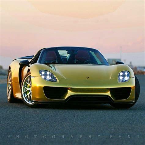 gold porsche 918 zero 2 turbo