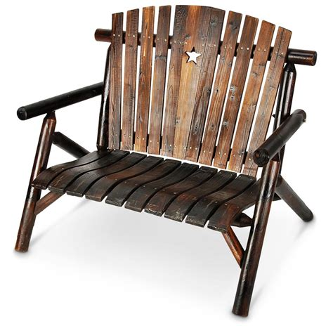star bench country star wood bench 235320 patio furniture at