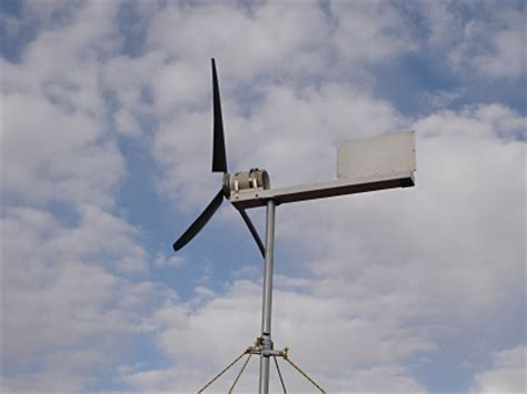 home built electricity producing wind turbine grid