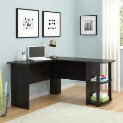 l shaped desk with side storage finishes