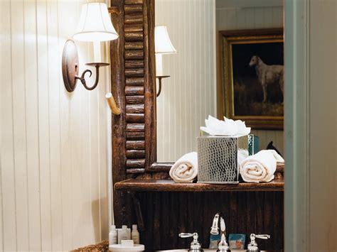 rustic lighting for bathrooms rustic bathroom lighting hgtv