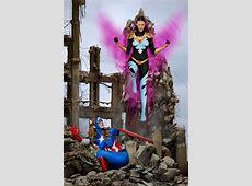 COSPLAY: Body Paint Superheroes Featuring Captain America ... Halloween Makeup Batgirl