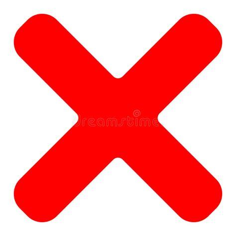 Red Cross Symbol Icon As Delete Remove Fail Failure Or Free Vector Graphic Delete Remove Cross Cancel