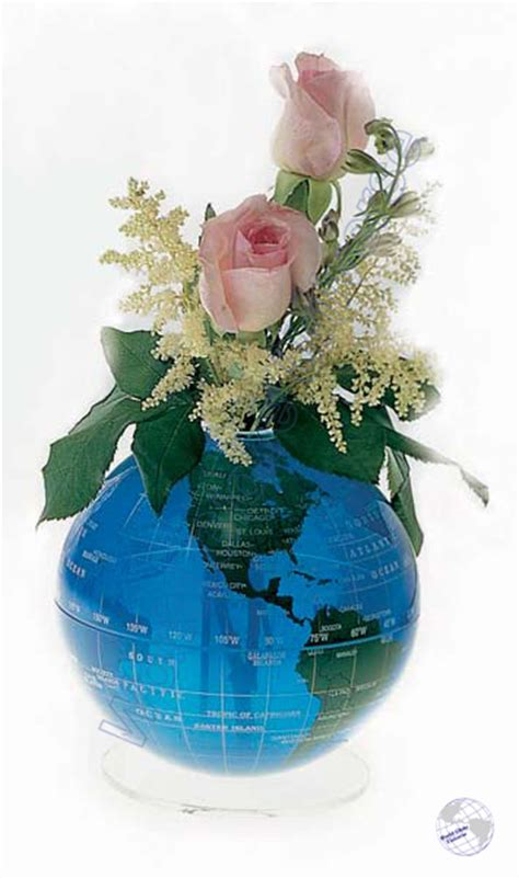 Blue Green Flowersphere 12 Quot Earth Globe Vase World Globe Centerpieces
