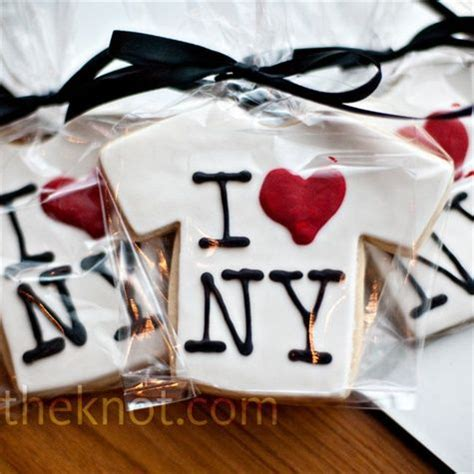 new york themed cookies t shirts taxi cabs and broadway signs were the touch