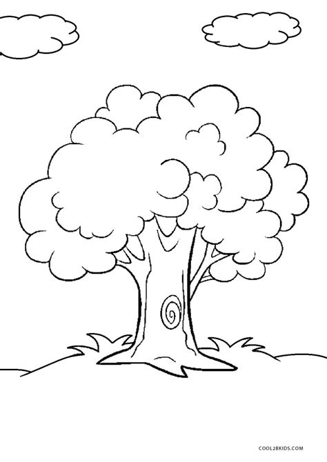 coloring pages of free printable tree coloring pages for cool2bkids