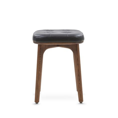 Small Black Bar Stools by Utility Bar Stool Black Leather Small Stellar Works