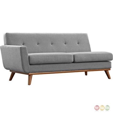 Modern L Shaped Sofa Engage Contemporary L Shaped Sectional Sofa With Button Accents Expectation Gray