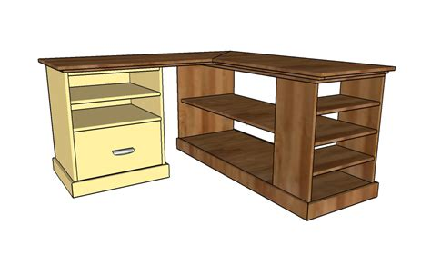 Corner Desk Plans Building A Corner Desk Howtospecialist How To Build Step By Step Diy Plans