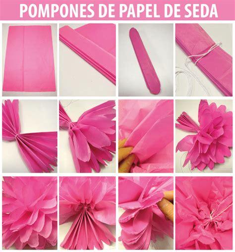 como hacer decoraciones con papel c 243 mo hacer pompones de papel de seda y rosetas de