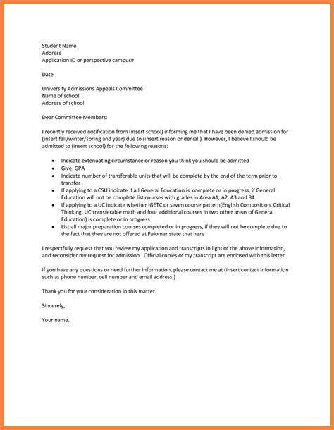 College Appeal Letter Tips how to write an appeal letter for school how to format