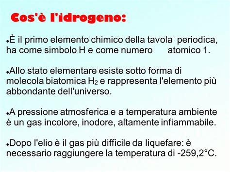 cos 232 l idrogeno 200 il primo elemento chimico della tavola