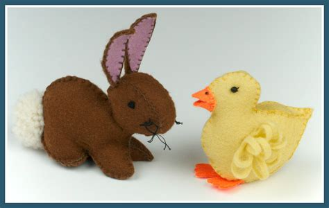 bunny and felt duckling and easter bunny template free tutorials