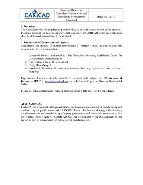 Terms Of Reference Template For Consultant 28 terms of reference template for consultant terms of
