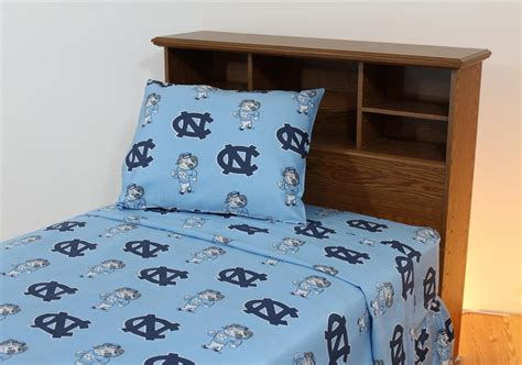 Unc Bedding Set Carolina Tarheels Unc Cotton Sateen Bed Sheet Set Ebay