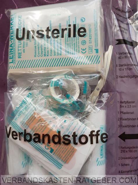 Auto Verbandskasten Norm by Din 13164 Eine Norm F 252 R Verbandskasten Inhalt Im Auto
