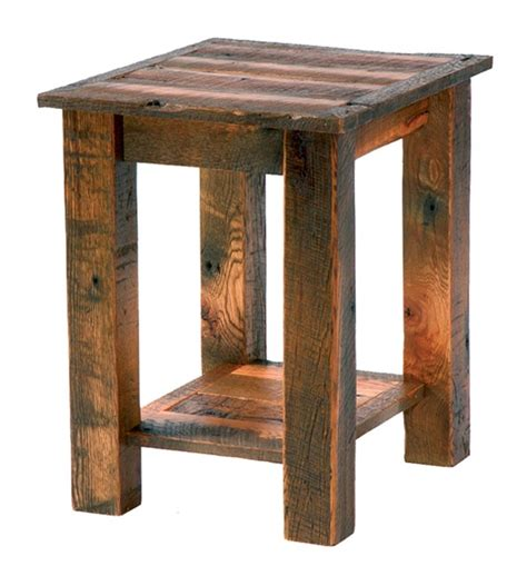 Rustic End Tables Rustic Pine Cone End Table With Wood Top Reclaimed Furniture Design Ideas