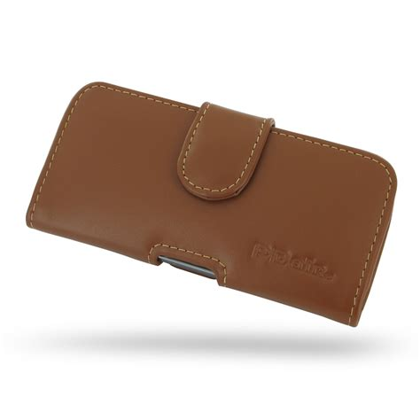 Iphone 5 5s Leather iphone 5 5s leather holster brown pdair sleeve pouch