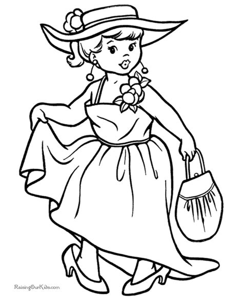 halloween girl coloring pages 008