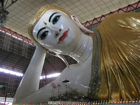 Reclining Buddha Myanmar by Reclining Buddha Photo Temples And Palaces Yangon Myanmar