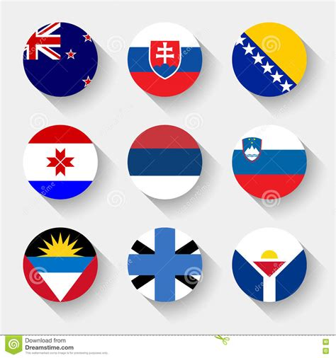 flags of the world round flags of the world round buttons vector illustration