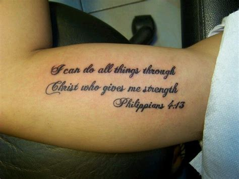 philippians 413 tattoo philippians 4 13 on arm search