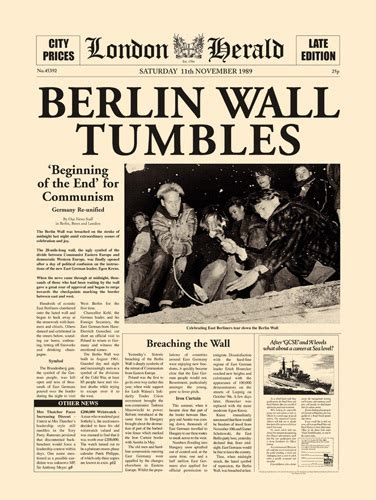 berlin wall newspaper reunification of germany history from newspapers safia