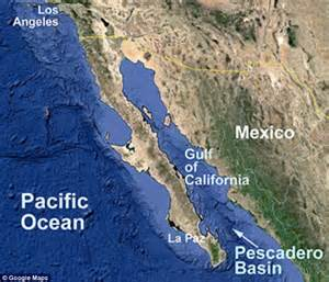 where is the gulf of california located on a map the pescadero basin is located in the gulf of california