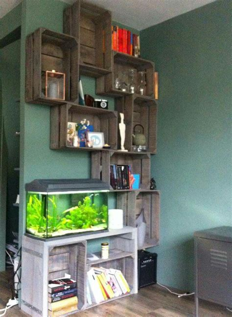 cool bookcase and aquarium idea vivarium