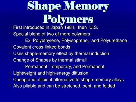 Ppt Shape Memory Polymers Veriflex Tm Powerpoint Presentation Id 3722892 Memory Ppt