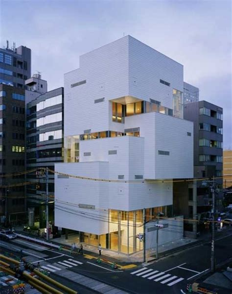 building concept atelier hitoshi multilevel building concept with modern