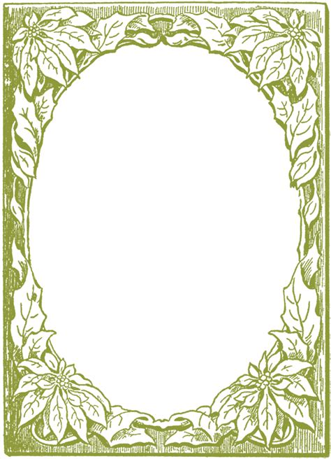 christmas pattern frame poinsettia frame images the graphics fairy