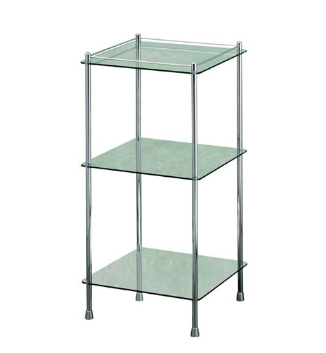 3 tier glass shelf bathroom valsan 57400es essentials bathroom 3 tier glass shelf unit