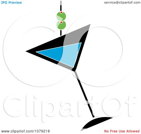martini clipart no background clipart blue martini glass with olives royalty free