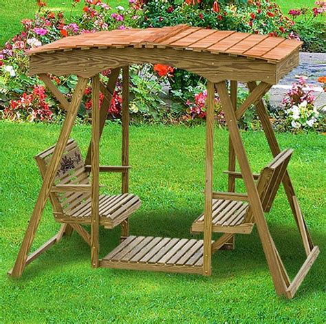 covered swing bench amish outdoor swing roof wooden swing outdoor glider