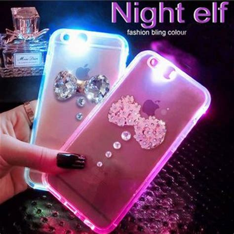 Iphone 8 Plus Marble Mint Blue Hardcase light up luminous bow for from anaecadeau cool