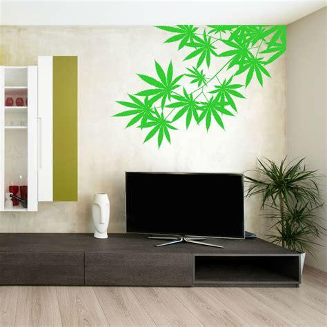 wall stickers room cannabis tree leaf plant vinyl wall sticker room decal ebay