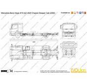 The Blueprintscom  Vector Drawing Mercedes Benz Atego 815 4x2 4820