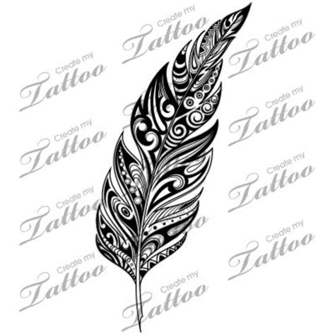 tribal pattern feather marketplace tattoo sbink tribal feather 10521