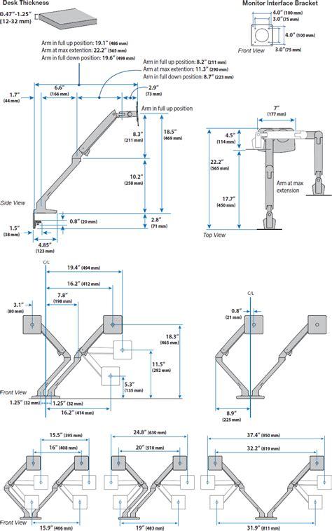 ergotron dual monitor desk mount ergotron 45 496 216 mxv desk mount dual lcd monitor arm