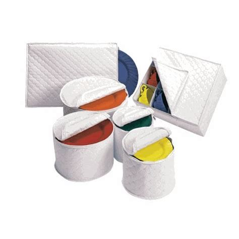 Quilted Plate Storage by 6 Tabletop Quilted Vinyl Dinnerware Storage Set