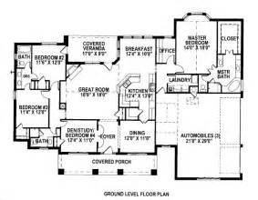 2500 sq ft floor plans 2500 square feet 3 bedrooms 3 batrooms 3 parking space on 1 levels house plan 6105 all