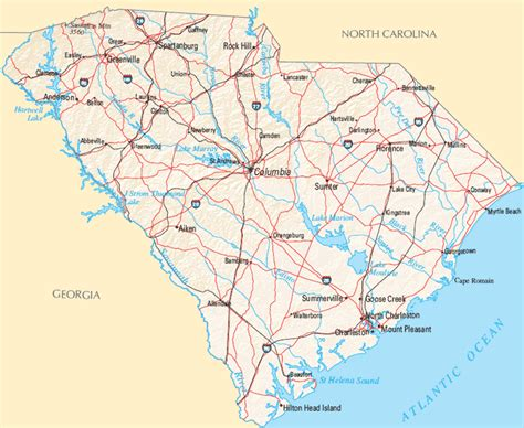 south carolina map ambitious and combative maps of south carolina