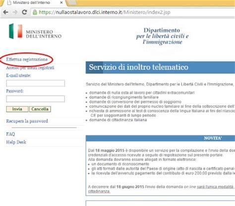 ministero interno stato domanda cittadinanza il portale dell immigrazione e degli immigrati in italia