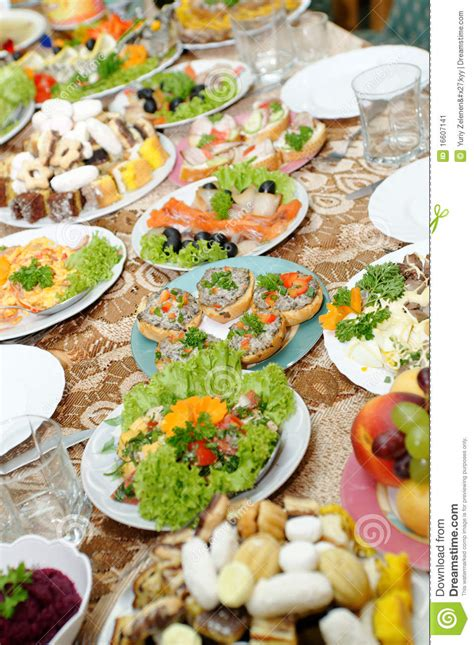 table with tasty food stock image image 16607141